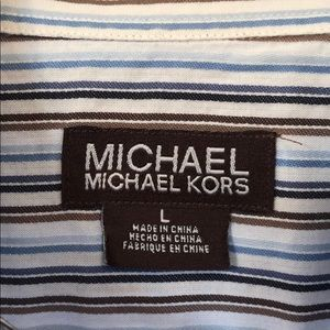 Michael Kors mens button down shirt